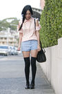 Orange-diy-alexander-wang-shirt-blue-camilla-and-marc-shorts-black-topshop-s