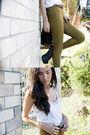 White-mink-pink-top-beige-american-apparel-pants-black-jeffrey-campbell-shoe