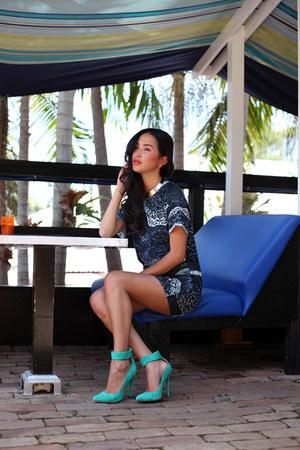 navy stolen girlfriends club dress - aquamarine Jennifer Hawkins for Siren heels