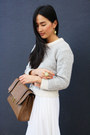 Heather-gray-gary-pepper-vintage-jumper-white-gary-pepper-vintage-dress
