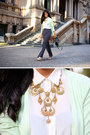 Gold-gary-pepper-vintage-necklace-white-zara-shirt-black-brahmin-bag