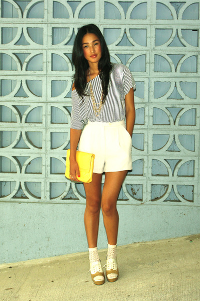yellow vintage clutch accessories - white from Tokyo shoes