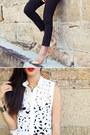 Gold-gary-pepper-vintage-heels-black-j-brand-jeans-white-zimmermann-top