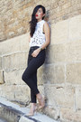 Gold-gary-pepper-vintage-heels-black-j-brand-jeans-white-zimmermann-top