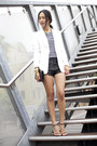 White-zara-jacket-black-gary-pepper-vintage-bag-black-friend-of-mine-shorts