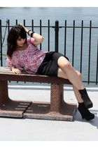pink See by Chloe blouse - black Forever 21 skirt - black Forever 21 shoes