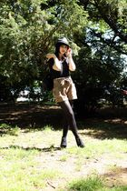 black American Apparel shirt - H&M shorts - Dolce Vita shoes - Eugenia Kim for T