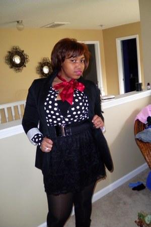 Target blazer - Target cardigan - kohls skirt