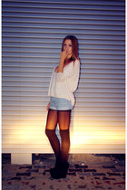 Shoes wedges - sweaters sweater - shorst shorts