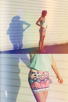 ivory Skirt skirt - aquamarine Top top