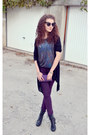 Deep-purple-denim-new-look-jeans-black-aj-morgan-sunglasses