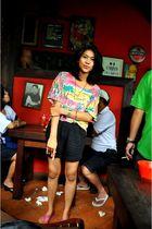 Guess accessories - Havaianas shoes - Topshop shorts - Topshop t-shirt