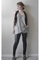 black Miley CyrusMax Azria vest - gray Old Navy shirt - blue Tilt shorts - black