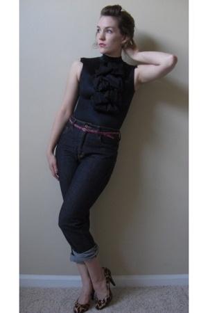 nihonfleur blouse - bitten jeans - Steve Madden shoes