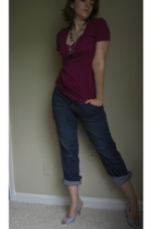 Express t-shirt - Eddie Bauer jeans - fioni payless shoes