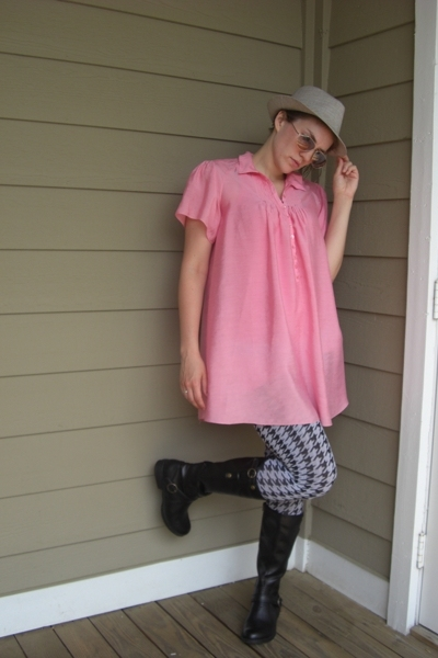 spazzato shirt - Madden Girl boots - Express tights - Target hat