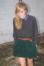 Brown-steve-madden-shoes-charcoal-gray-thrifted-sweater