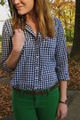 Green-abercrombie-and-fitch-jeans-green-gingham-gilly-hicks-shirt