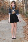 Black-american-apparel-skirt-gray-j-crew-sweater-navy-gilly-hicks-shirt