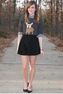 Gray-j-crew-sweater-navy-gilly-hicks-shirt-black-american-apparel-skirt