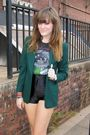 Black-apricot-lane-t-shirt-black-american-apparel-shorts-green-thrifted-blaz