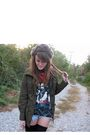 Gray-urbanoutfitters-hat-black-vintage-shirt-green-forever21-jacket-blue-a