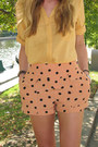 Black-headband-target-accessories-light-orange-polka-dot-motel-shorts