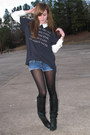 Black-chinese-laundry-boots-white-forever21-shirt
