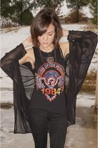 black One Teaspoon top - black gypsy warrior pants