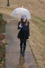 Navy-rain-boots-hunter-boots-black-wal-mart-tights