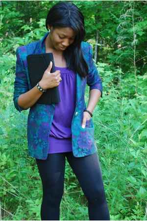 blazer - Forever21 top - Old Navy accessories - Forever 21 leggings