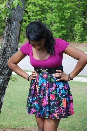 Forever 21 top - Target belt - thakoon skirt