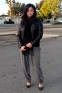 Black-james-perse-shirt-black-forever21-jacket-gray-love21-pants-black-ban