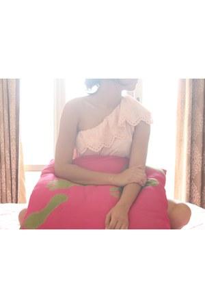 pastel pink Mango top
