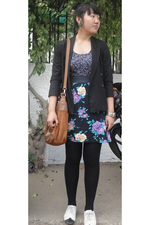 bought online shoes - Forever 21 dress - Zara blazer - Charles & Keith bag - For