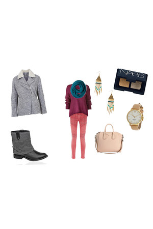 coat - sweater - scarf - bag