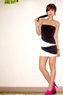 Black-tube-forever21-dress-black-clic-clac-hermes-bracelet