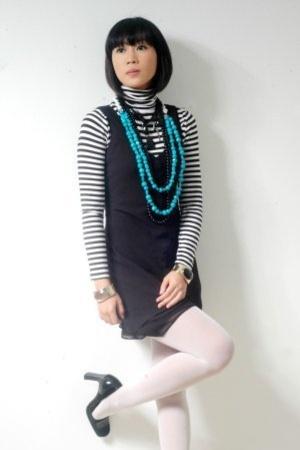 Gucci shoes - BCBG dress - Zara top