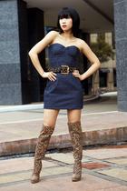 Glitterati dress - Grommet by Glitterati belt - boots