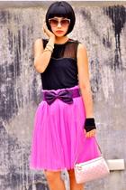 pink Glitterati skirt - white Matthews shoes - pink Gucci purse