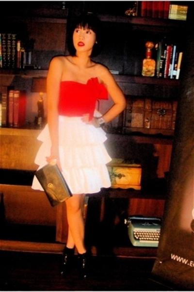 Zara top - Glitterati skirt - christian dior purse - wild diva shoes
