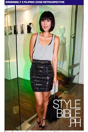 Topshop top - Glitterati skirt - Mango shoes - Terranova purse