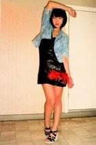 DKNY jacket - Mango dress - Tocande purse - Dolce Vita shoes