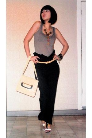 Promod top - Viseversa pants - Gucci purse - random from Hong Kong belt - Stella