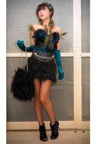 black La Sensa intimate - black Zara skirt - black Grommet by Glitterati belt -