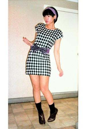 random from Hong Kong dress - Zara belt - Salsatrends accessories - Syrup shoes