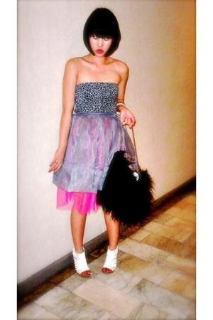 Topshop top - Glitterati skirt - Terranova purse - Matthews shoes