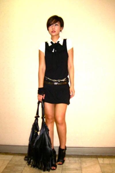 black random from Hong Kong shoes - black Forever 21 dress