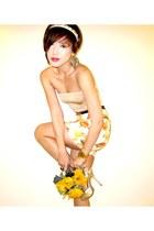 tube Mango top - Glitterati skirt - Vintage YSL accessories - rose high-heels Fo