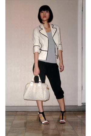 jus blazer - Zara top - random from Hong Kong pants - Louis Vuitton purse - Stel